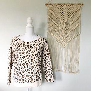 J. Crew Leopard Print Lightweight Sweatshirt